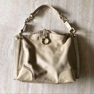 BCBG Maxazria Tote Bag - Cream Leather